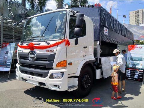 Xe tải Hino thùng mui bạt